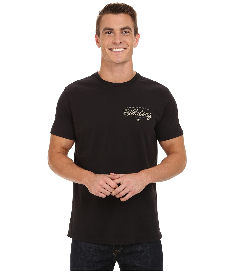 Billabong - Oxford Short Sleeve T-Shirt (Black) Men's T Shirt