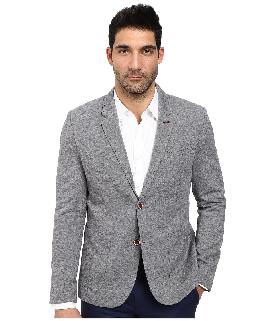 Ted Baker - Textured Jersey Blazer (Navy) Men's Coat