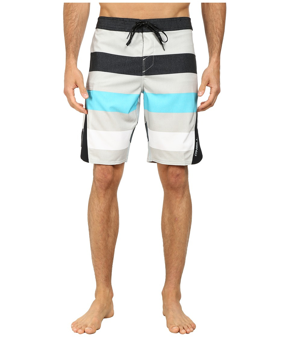 O'Neill - Superfreak Scallop Superfreak Series Boardshort (Grey) Men's Swimwear