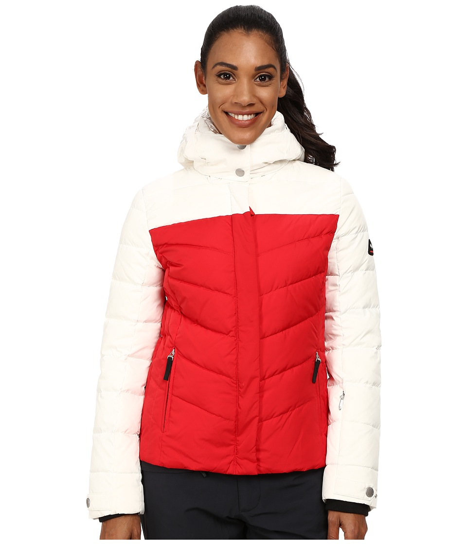 Bogner Fire + Ice - Sally-D (Fire Red/White) Women's Coat