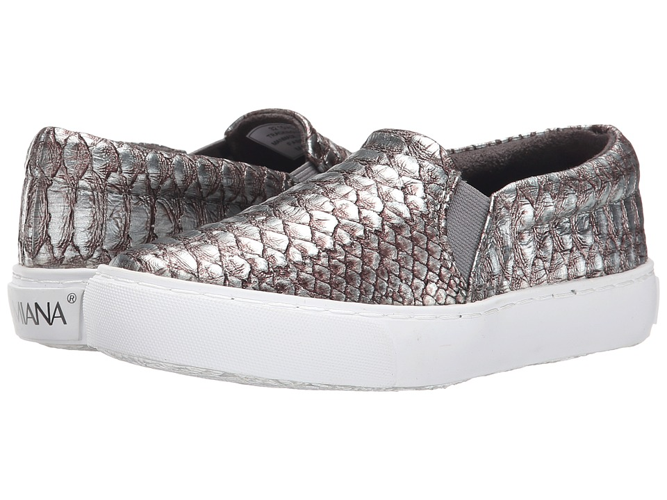 Amiana - 15-A5327 (Little Kid/Big Kid/Adult) (Pewter Snake) Girl's Shoes