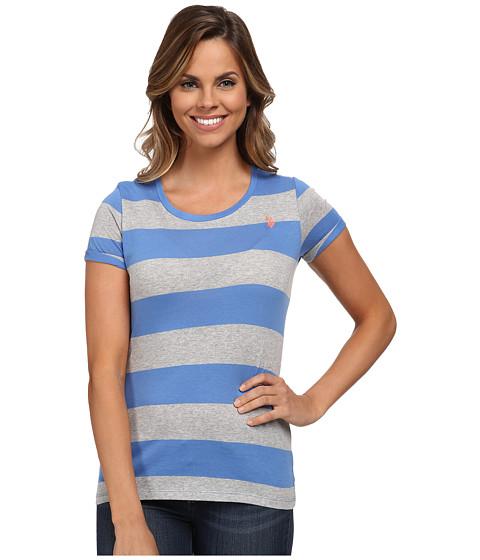 U.S. POLO ASSN. - Wide Stripes T-shirt (Ultramarine Blue) Women's T Shirt