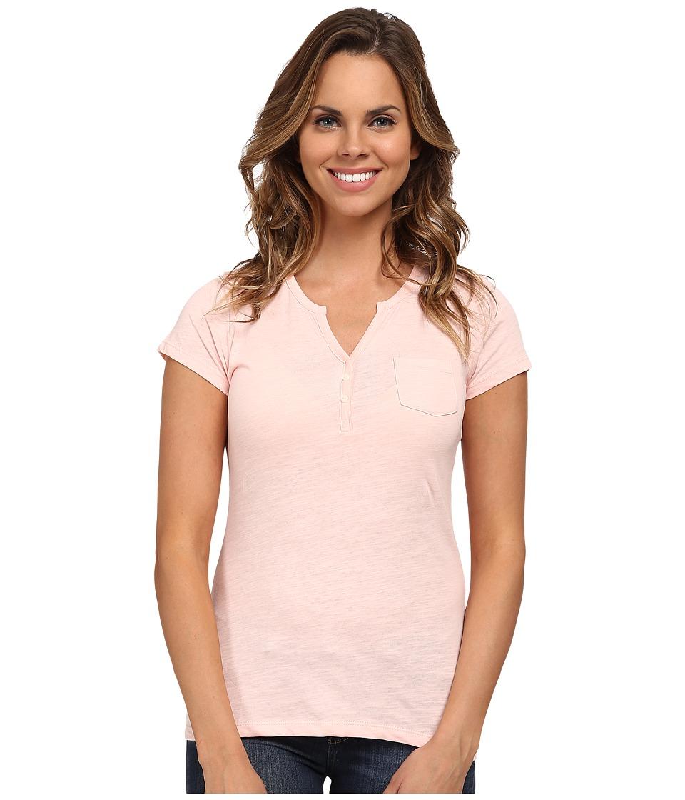 U.S. POLO ASSN. - Split Placket T-Shirt (Impatiens Pink) Women's T Shirt