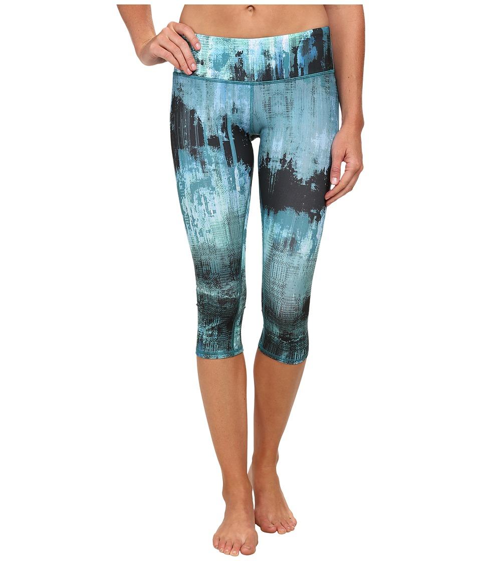 ALO - Airbrushed Capri (Deep Teal Desert Sunset Print) Women's Workout
