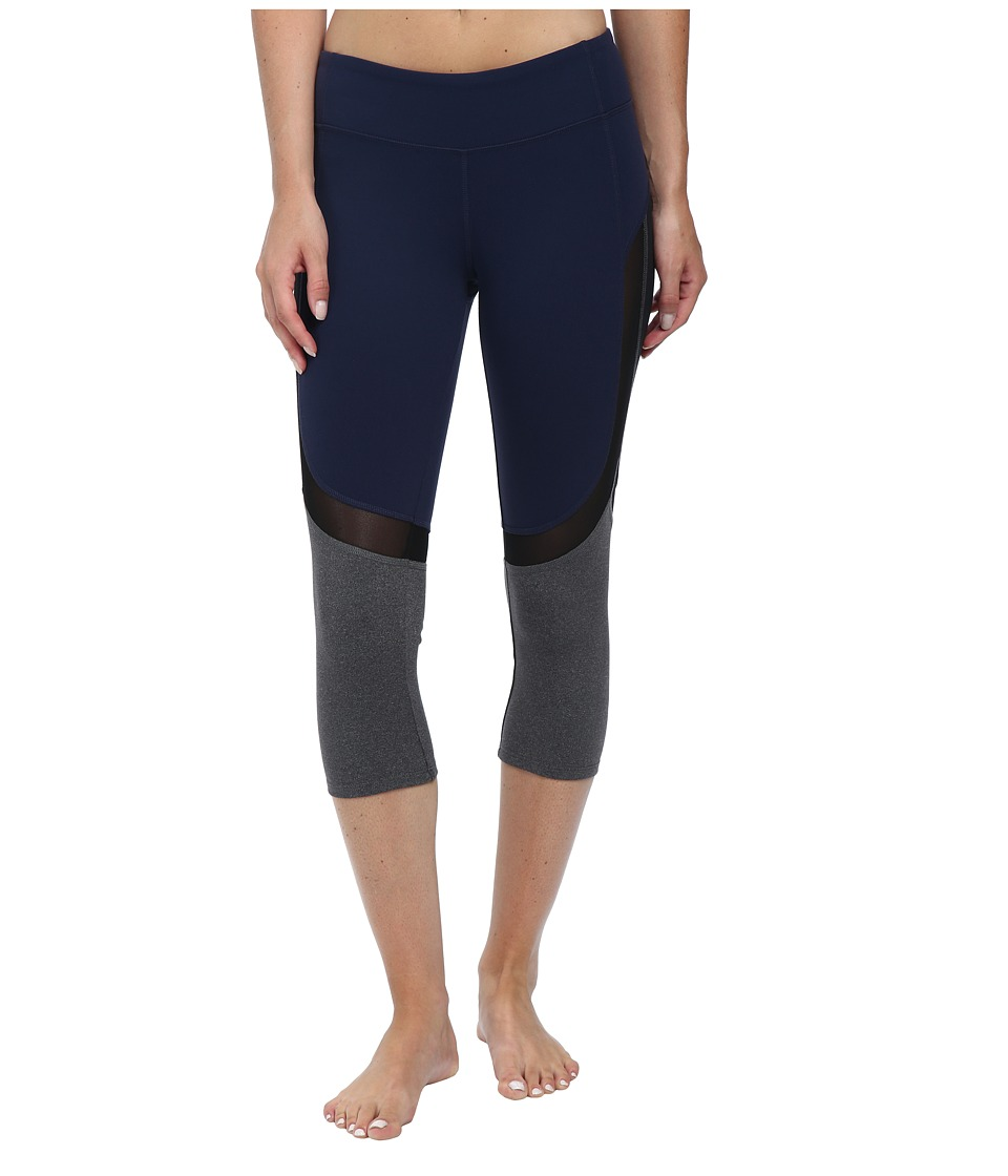 ALO - Curvature Capris (Rich Navy/Black/Stormy Heather) Women's Capri
