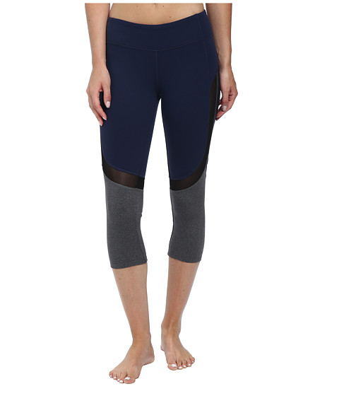 ALO - Curvature Capris (Rich Navy/Black/Stormy Heather) Women