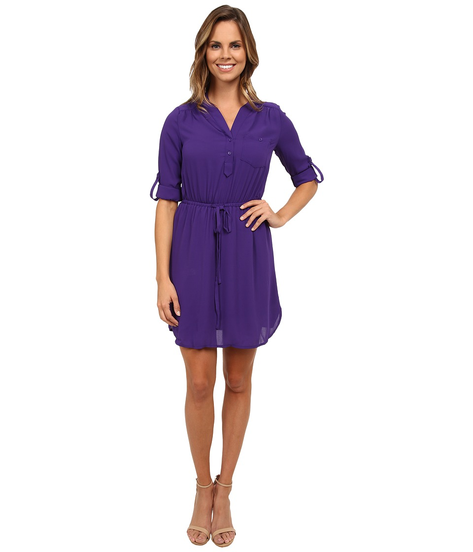 Brigitte Bailey - Blue Bell Dress (Eggplant) Women's Dress