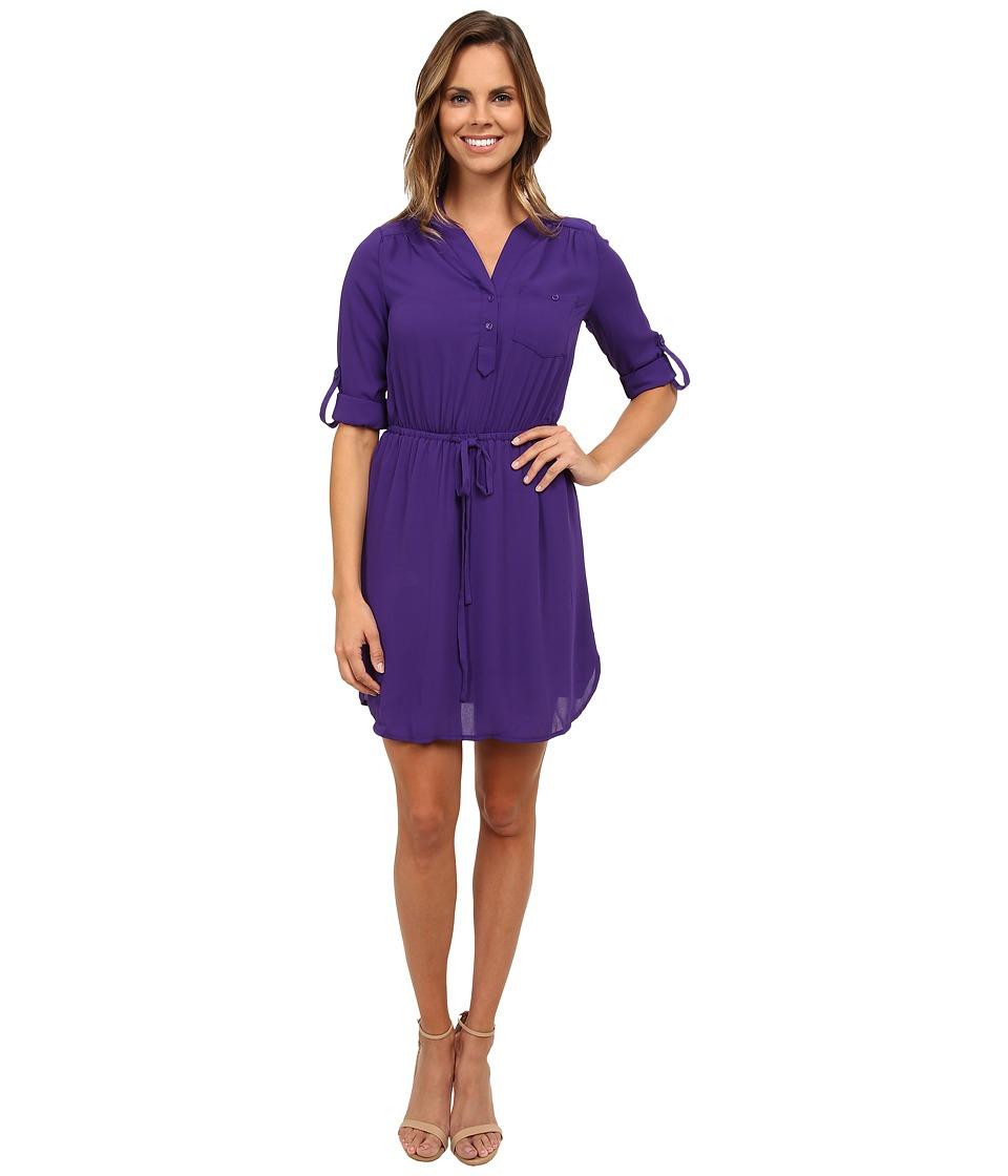 Brigitte Bailey - Blue Bell Dress (Eggplant) Women's Dress