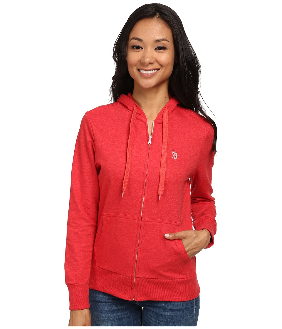 U.S. POLO ASSN. - Easy Hoodie (High Risk Red) Women's Sweatshirt