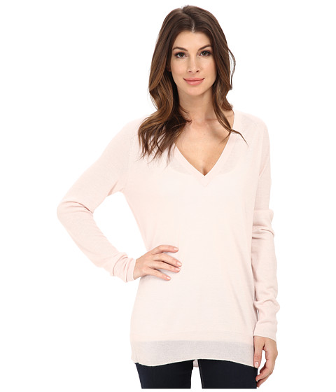 EQUIPMENT - Kelsey V-Neck (Chalk Pink) Women