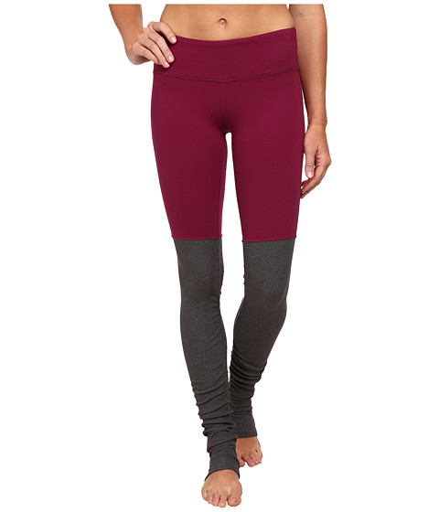 ALO - Goddess Ribbed Legging (Berry/Stormy Heather) Women's Workout