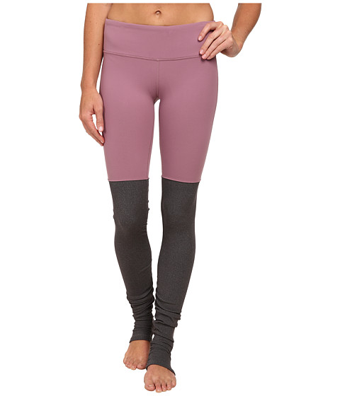 ALO - Goddess Ribbed Legging (Purple Sand/Stormy Heather) Women's Workout