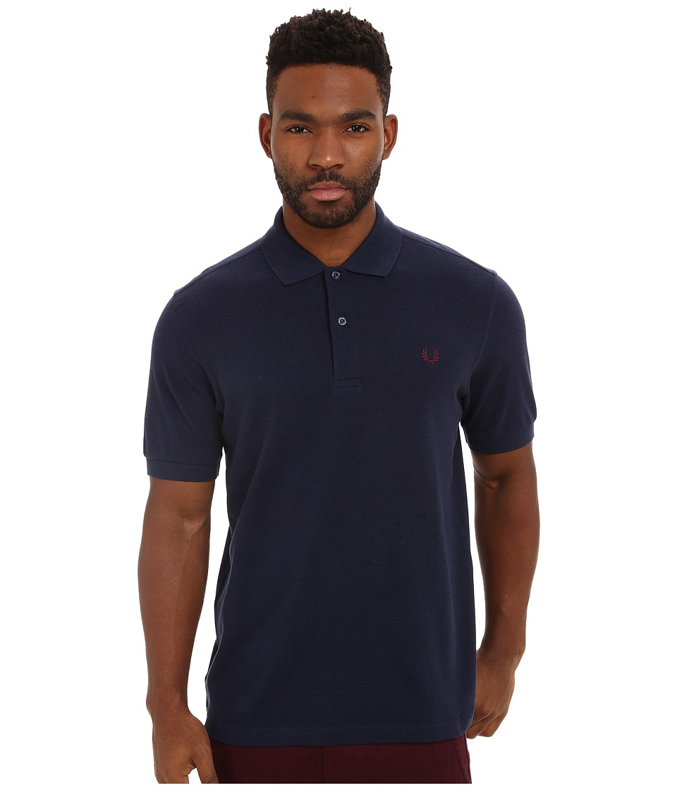 Fred Perry - Solid Polo (Dark Carbon Marl) Men's Short Sleeve Knit