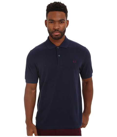 Fred Perry - Solid Polo (Dark Carbon Marl) Men