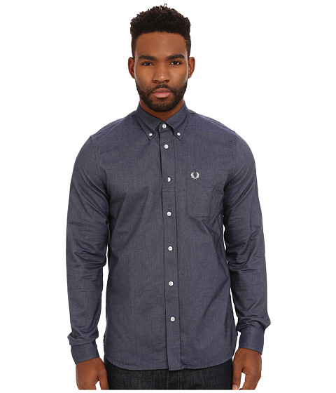 Fred Perry - Classic Oxford Shirt (Dark Carbon) Men
