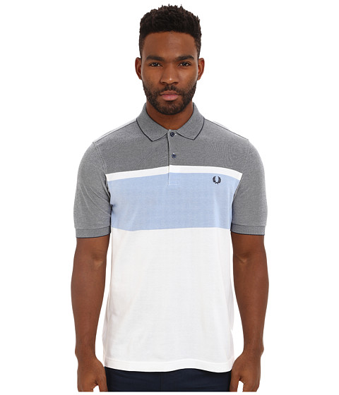Fred Perry - Oxford Stripe Shirt (Dark Carbon Oxford) Men