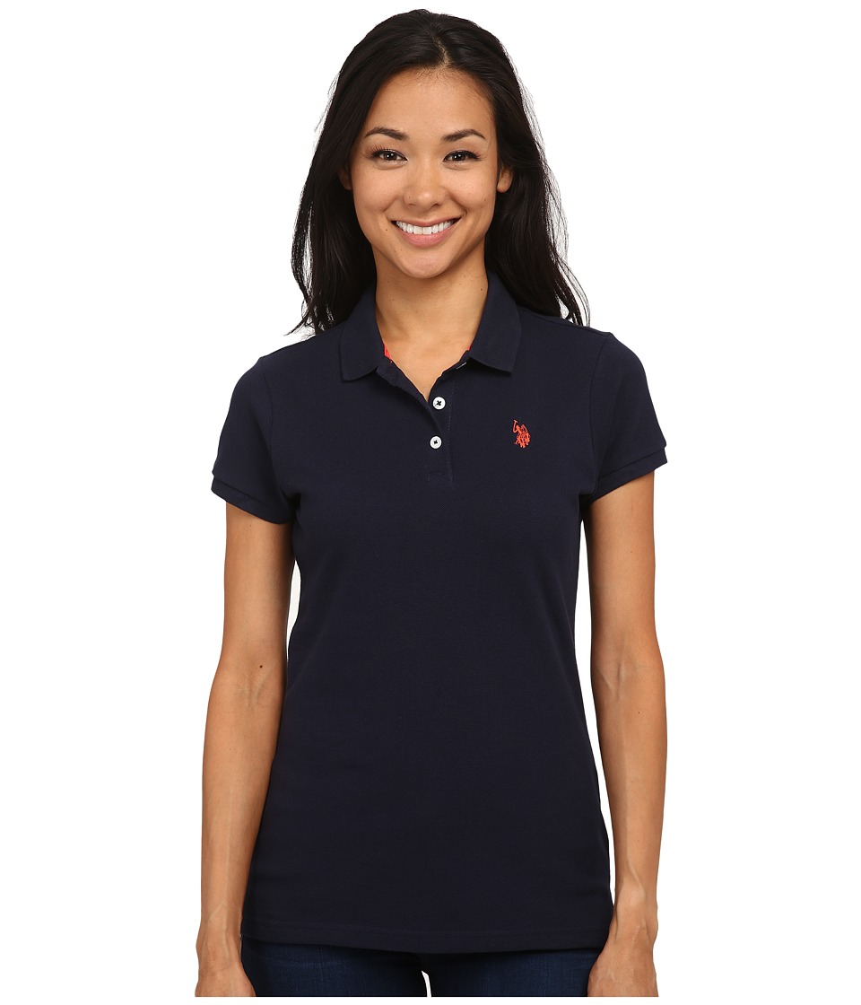 U.S. POLO ASSN. - Solid Pique Polo (Navy Blazer) Women