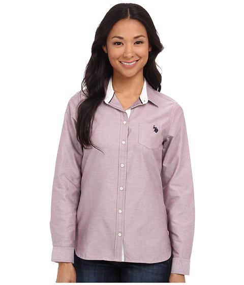 U.S. POLO ASSN. - Solid Oxford Shirt (Purple Potion) Women