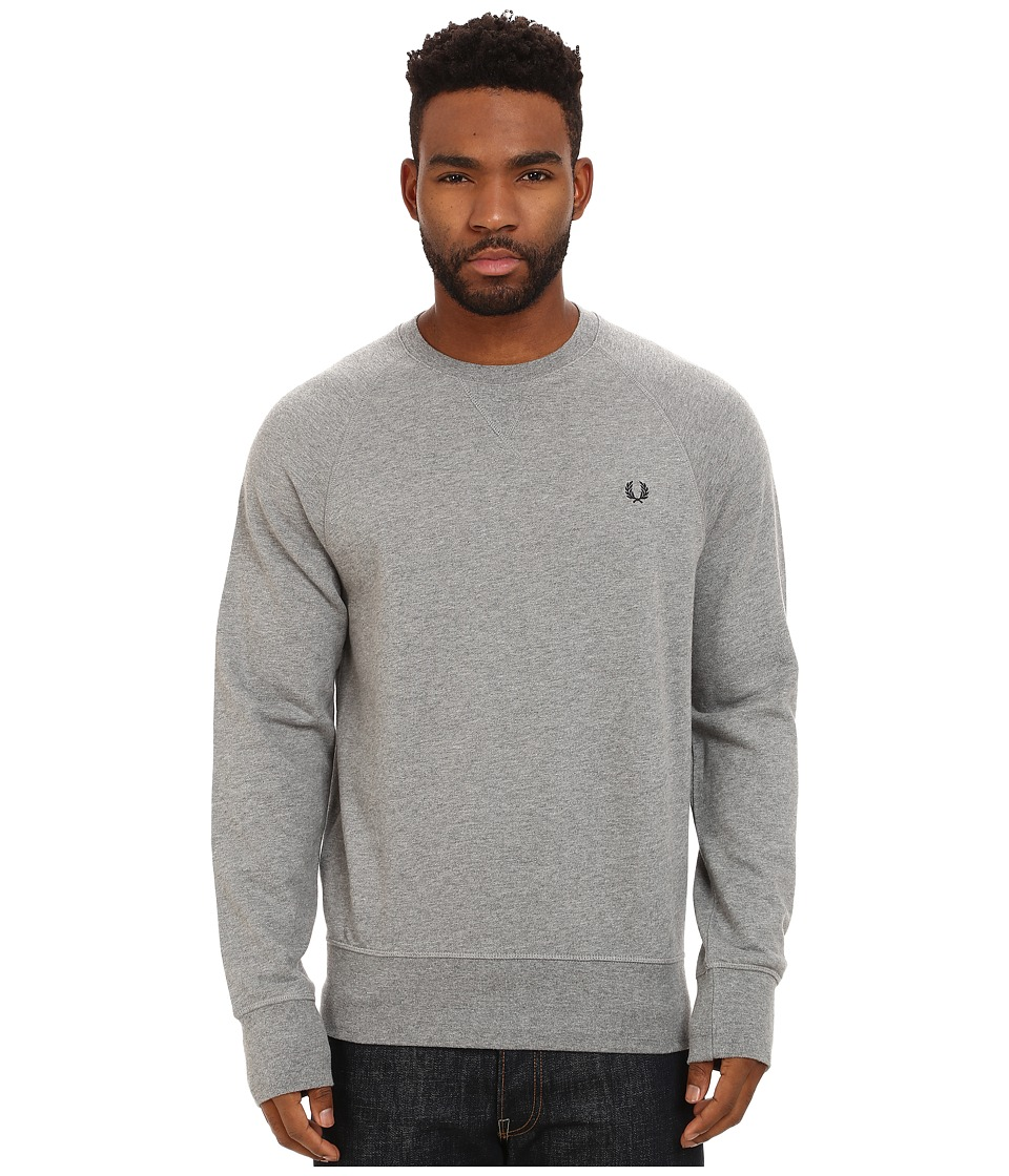 Fred Perry - Loopback Crew Sweater (Steel Marl) Men's Sweatshirt