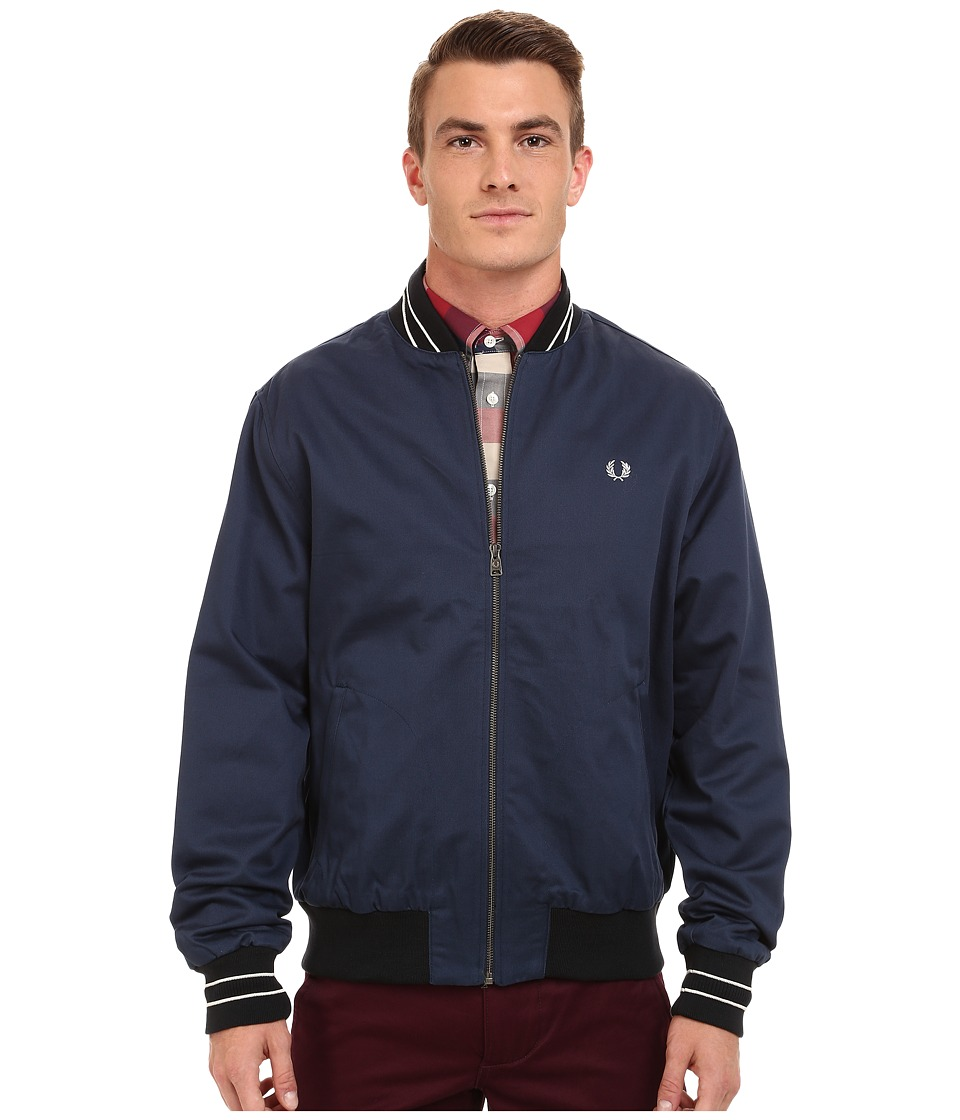 Fred Perry - Cotton Bomber Jacket (Service Blue) Men's Coat