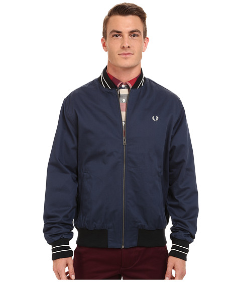 Fred Perry - Cotton Bomber Jacket (Service Blue) Men