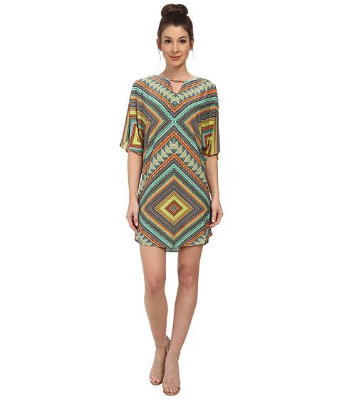 Maggy London - African Bead Crepe Jersey Wedge (Umber/Orange) Women's Clothing