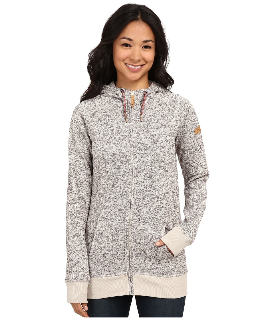 Roxy - Resin Knit Outerlayer (Egret) Women's Sweatshirt