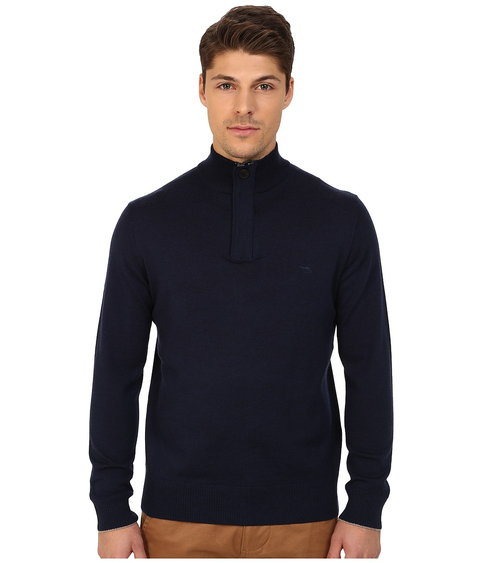 Rodd & Gunn - Waverley 1/4 Zip-Button Merino Knit (Navy) Men's Sweater