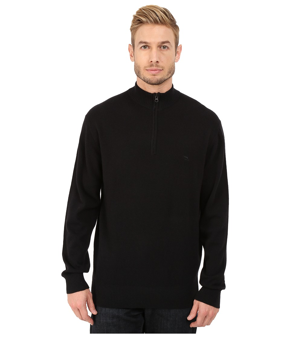 Rodd & Gunn - Masterton Lambswool 1/4 Zip Knit (Onyx) Men's Long Sleeve Pullover