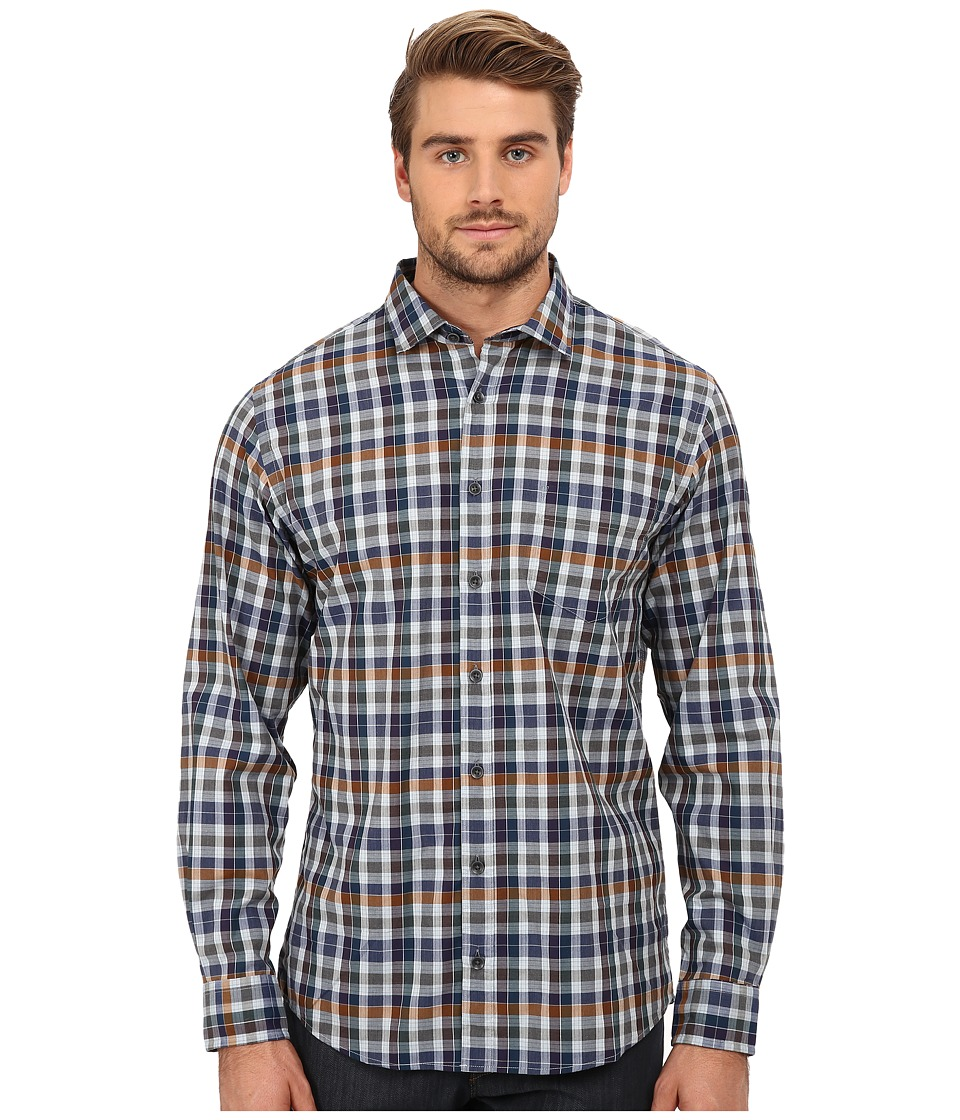 Rodd & Gunn - Albermarle Sports Shirt (Slate) Men's Long Sleeve Button Up