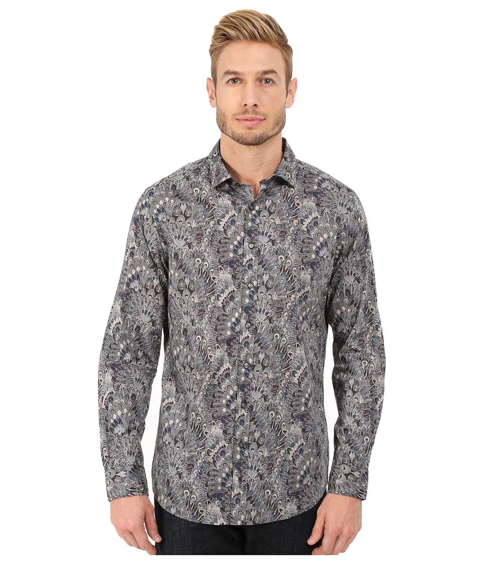 Rodd & Gunn - Huntaway Printed Sport Shirt (Pebble) Men's Long Sleeve Button Up