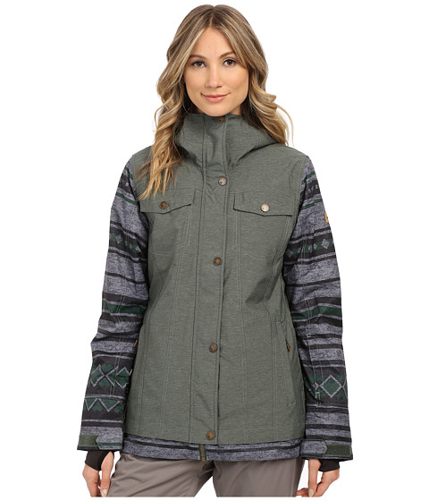 Roxy - Ceder Snow Jacket (Jungle Green) Women's Coat