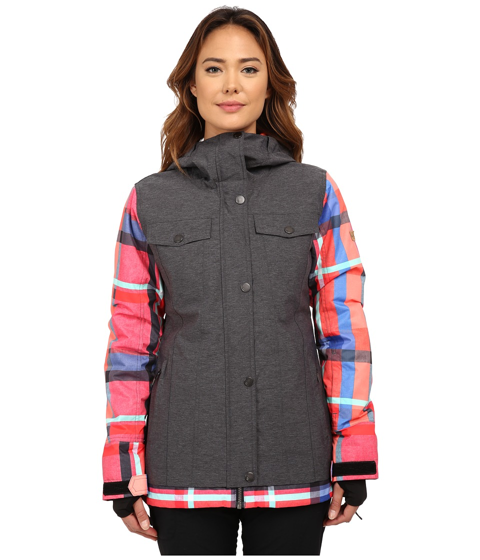 Roxy - Ceder Snow Jacket (Anthracite) Women's Coat