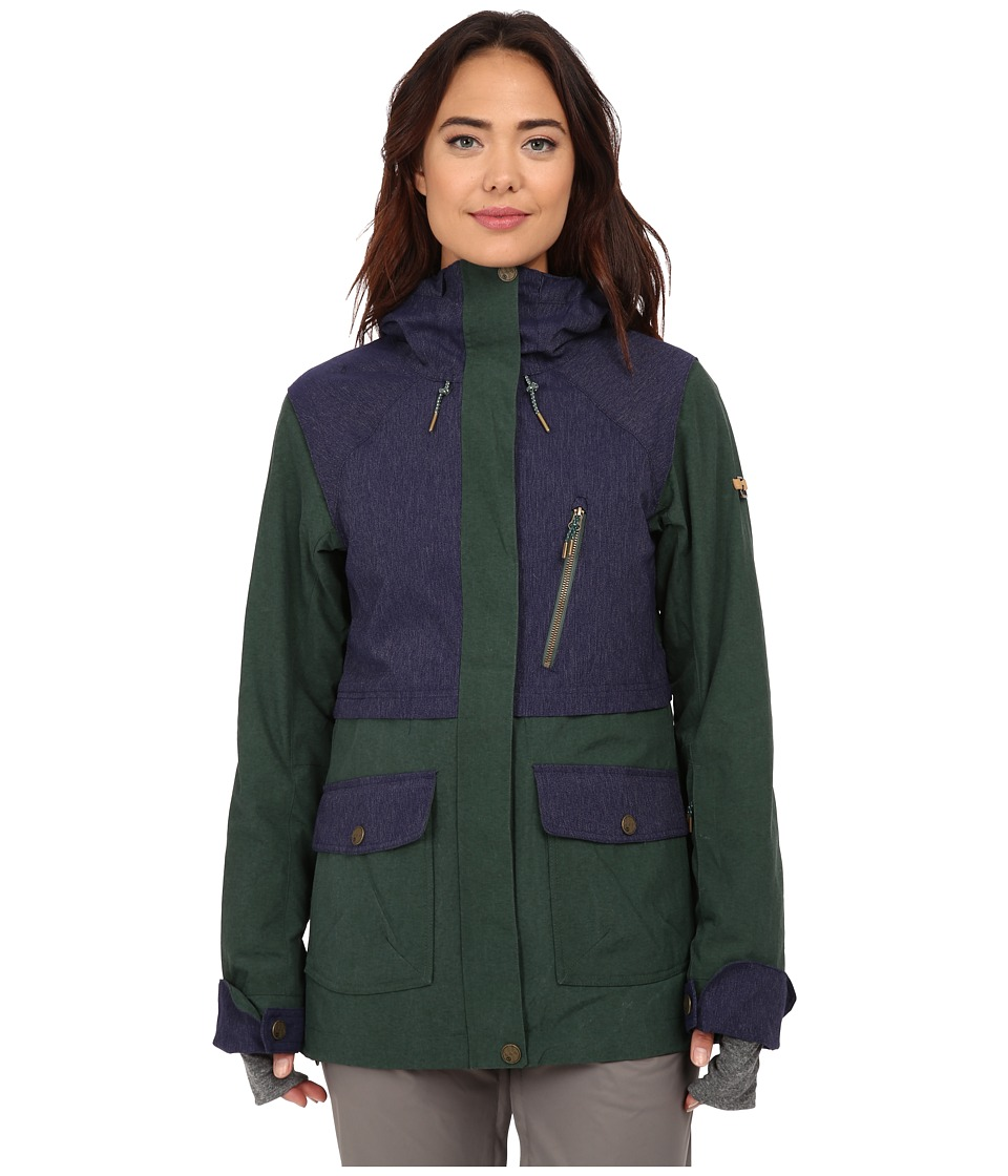 Roxy - Tribe Snow Jacket (Jungle Green) Women's Coat