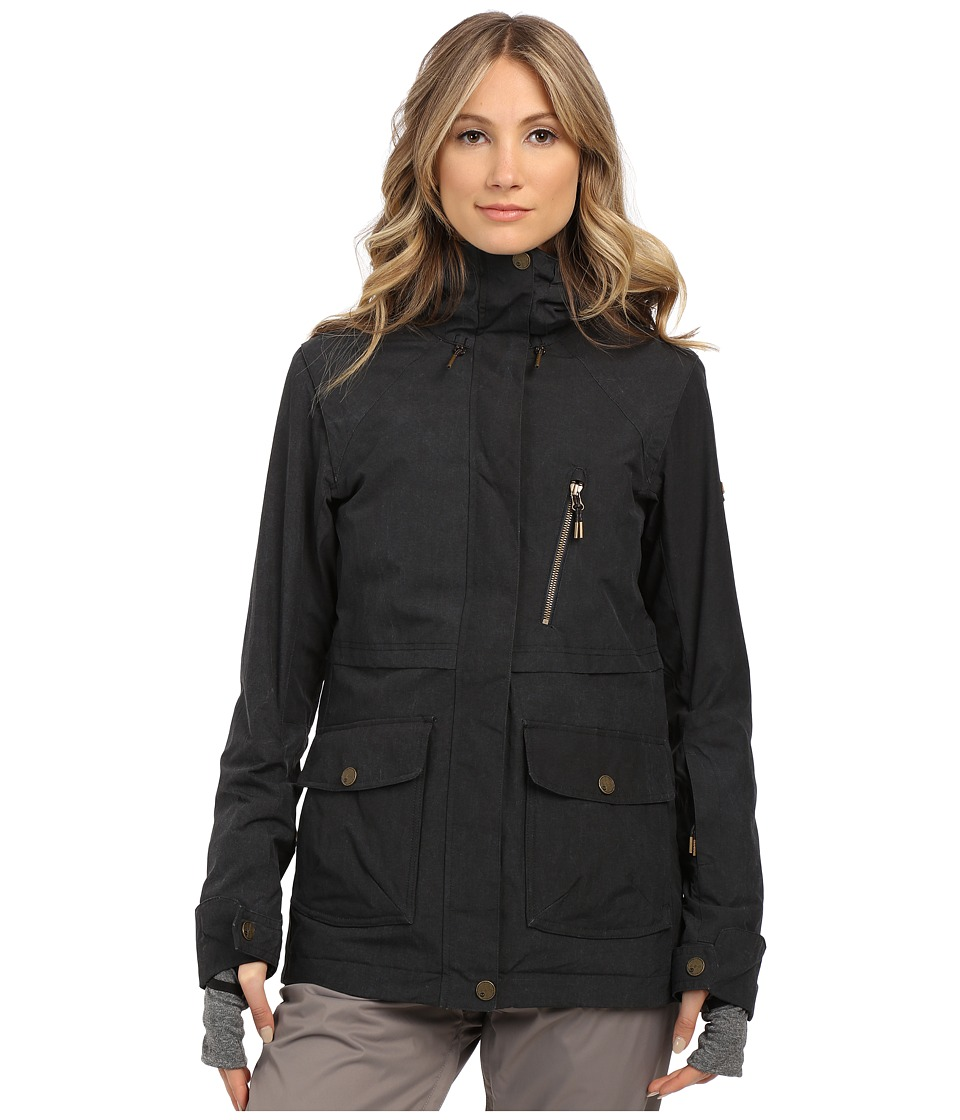 Roxy - Tribe Snow Jacket (Anthracite) Women's Coat