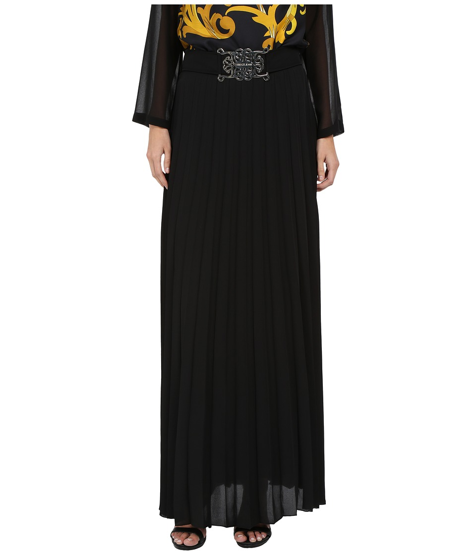 Versace Jeans - Pleated Long Maxi Skirt (Nero) Women's Skirt