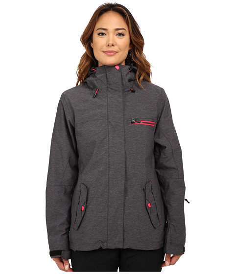 Roxy - Jetty 3-in-1 Snow Jacket (Anthracite) Women's Coat