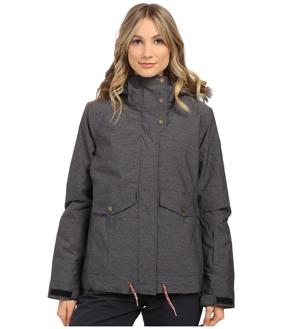 Roxy - Grove Snow Jacket (Anthracite) Women's Coat