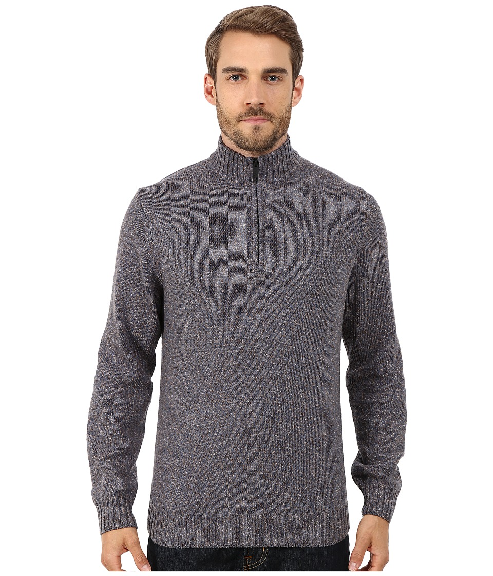 Rodd & Gunn - Salisbury Silk Cotton 1/4 Zip Knit (Bluestone) Men's Long Sleeve Pullover