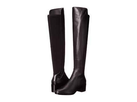 Via Spiga - Alto (Black/Black Glove Matte Calf/Stretch Fabric) Women