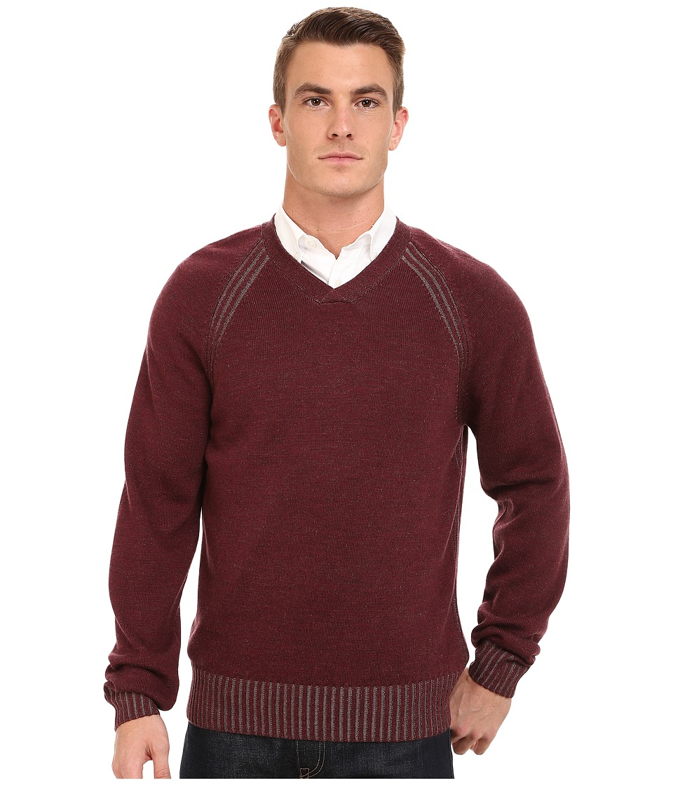 Rodd & Gunn - Birdwood V-Neck Sweater (Burgundy) Men