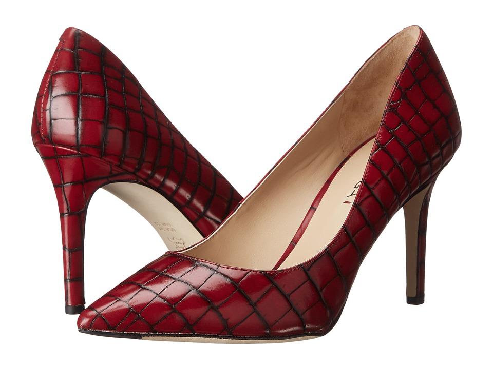 Via Spiga Carola (Merlot Tobarra Croc Print) High Heels