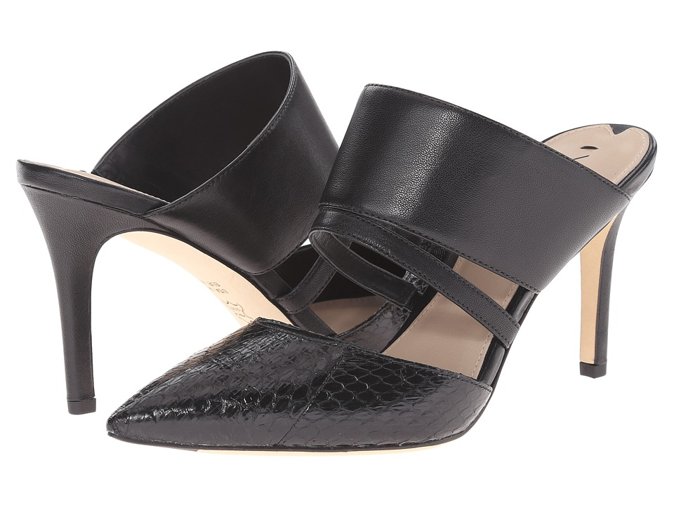 Via Spiga - Coralia (Black/Black Shiny Land Snake/Nappa) High Heels