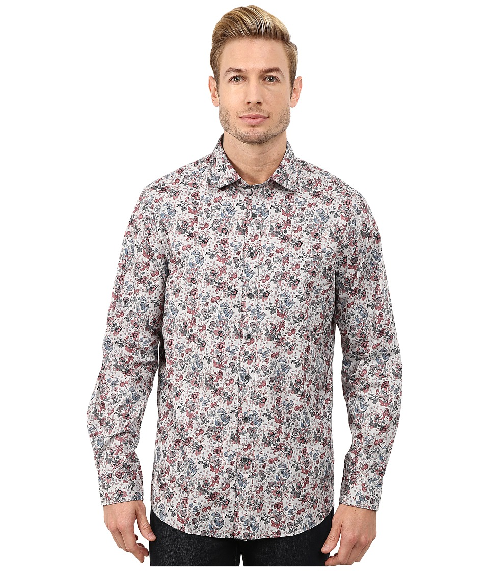 Rodd & Gunn - Ambrosia Printed Sport Shirt (Stone) Men's Long Sleeve Button Up