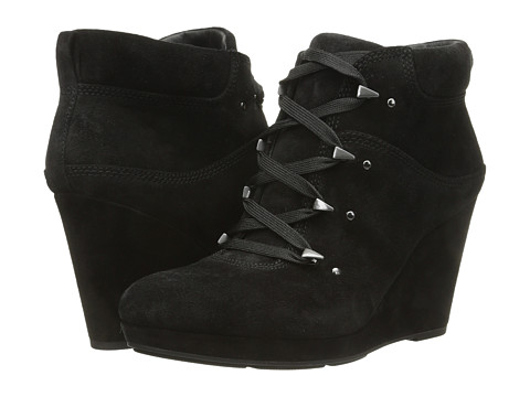Via Spiga - Dekel (Black Sport Suede) Women's Lace-up Boots