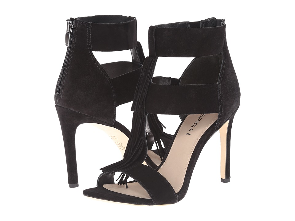 Via Spiga - Eilish (Black Sport Suede) High Heels