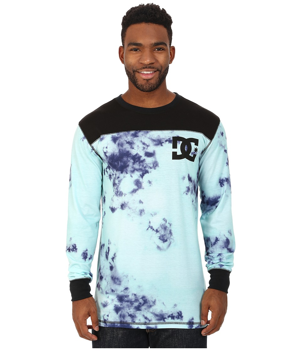 DC - Top Half Base Layer (Tie-Dye Aruba Blue) Men's Clothing