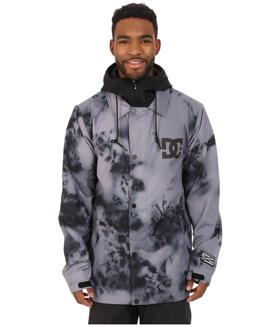 DC - Cash Only Snow Jacket (Tie-Dye Pewter) Men's Coat
