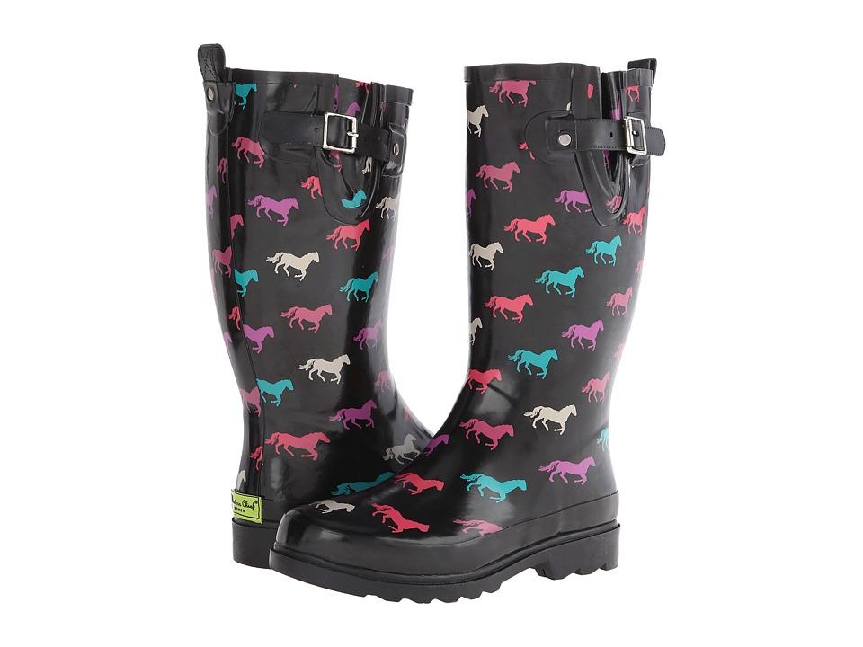 Western Chief - Down Hill Trot (Black) Women's Rain Boots