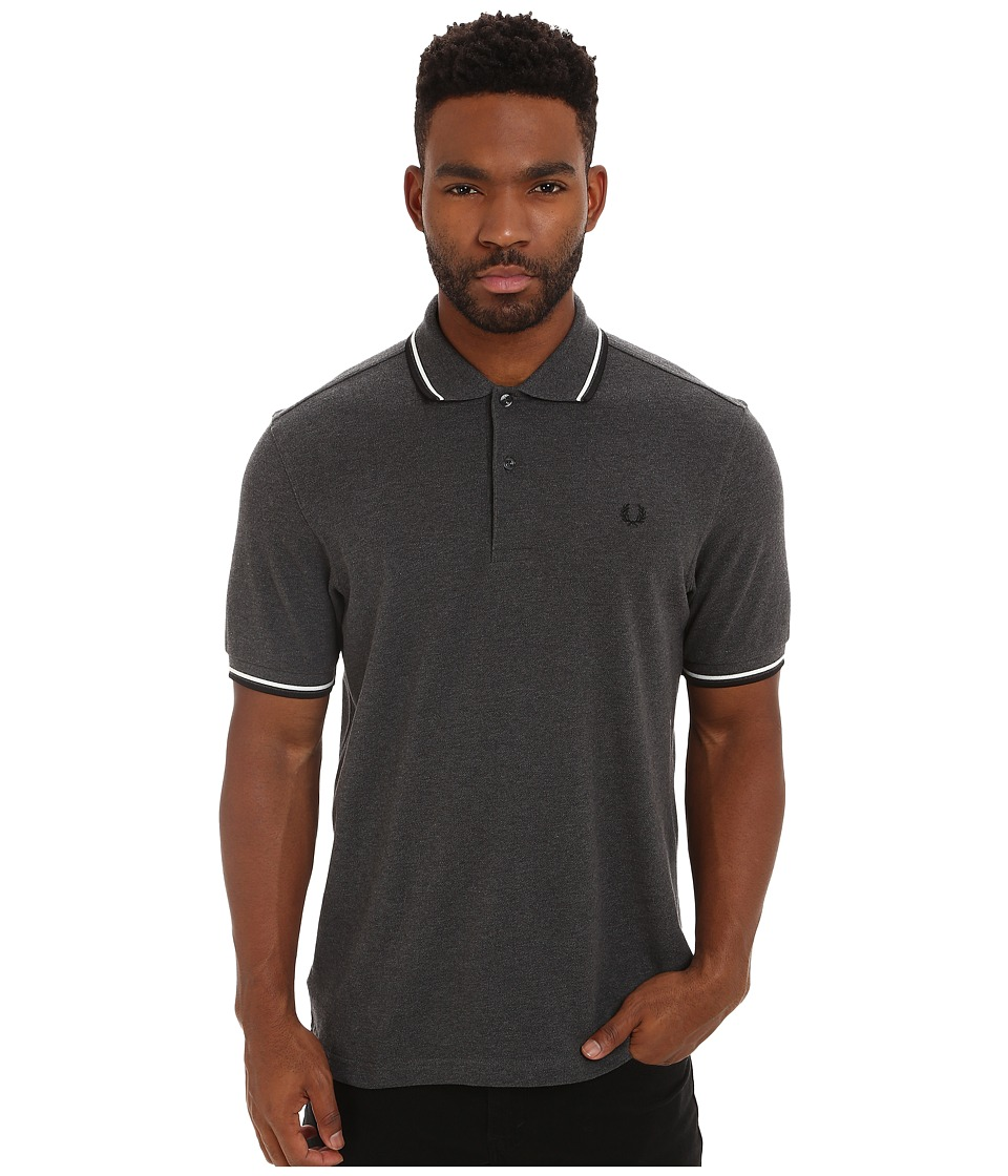 Fred Perry - Twin Tipped Fred Perry Polo (Graphite Marl/Snow White/Black) Men